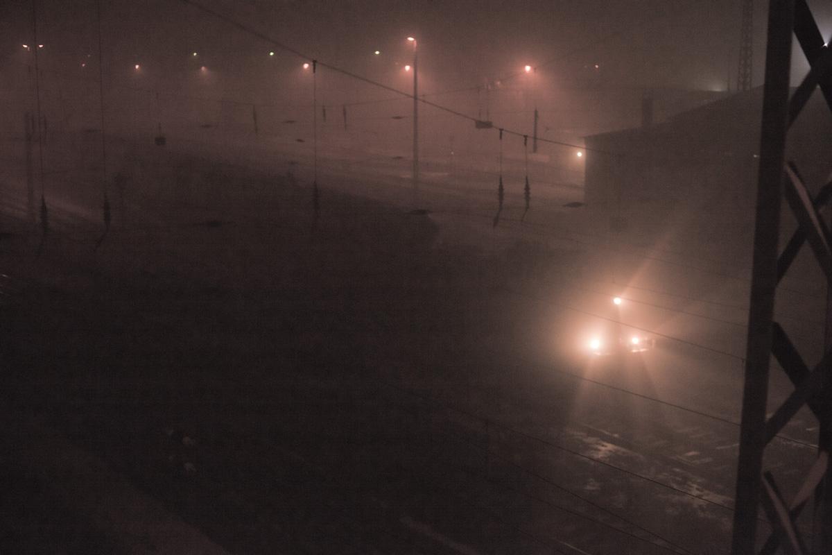 Der Zug im Nebel