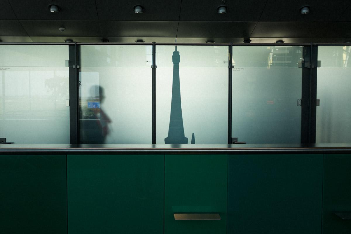 Die Silhouette des Turmes